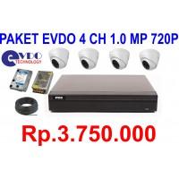 Paket EVDO 4 CH 1,0 Megapixel 720p