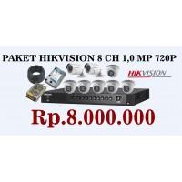 PAKET HIKVISION 8 CH 1,0 MP 720p